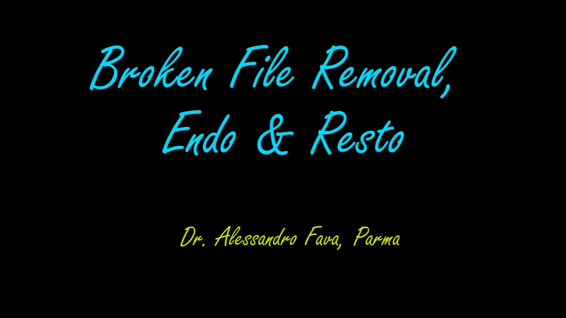Broken file removal Endo & Resto by Alessandro Fava