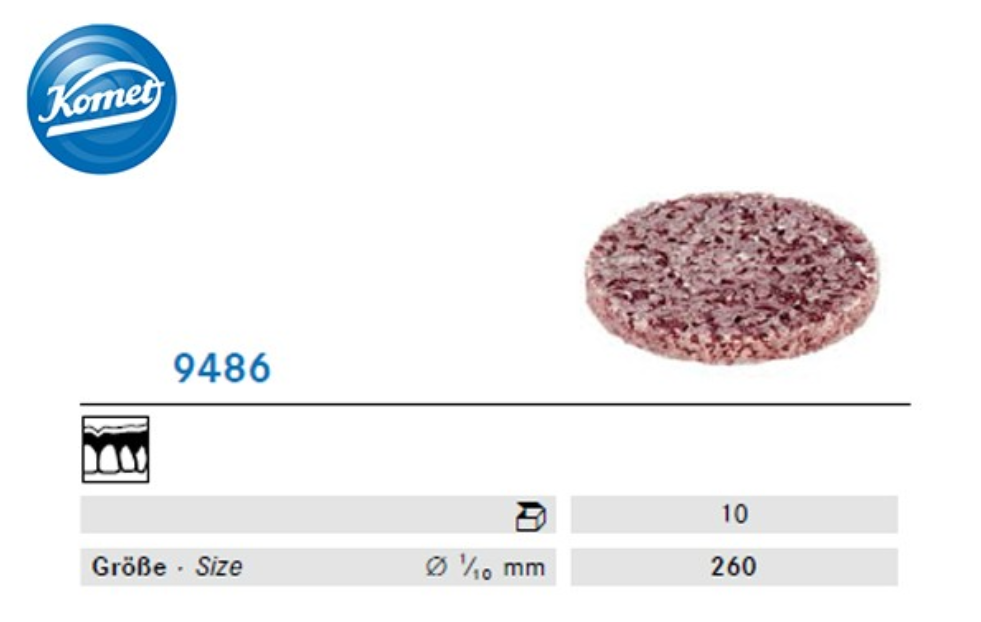 Ruotina abrasiva 9486 impregnata con silicone