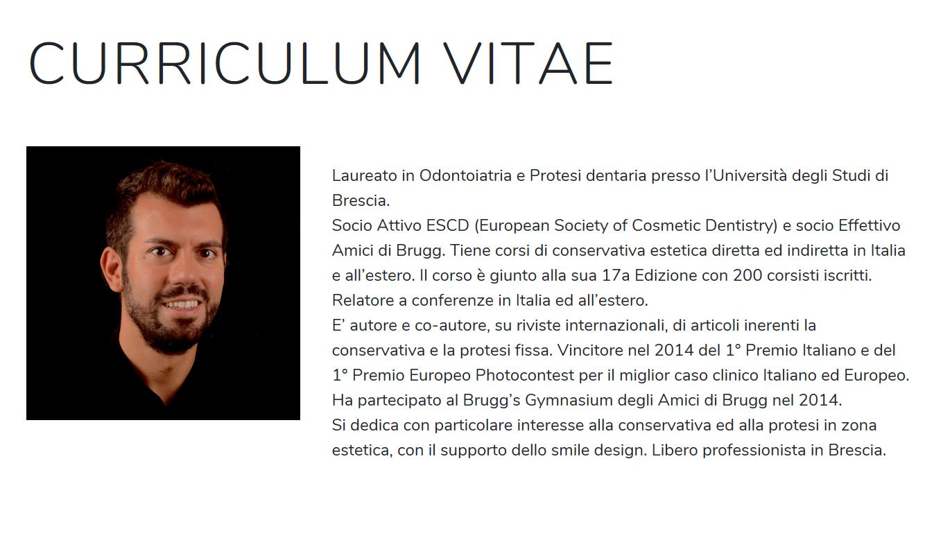 Curriculum Dr Luca Tacchini