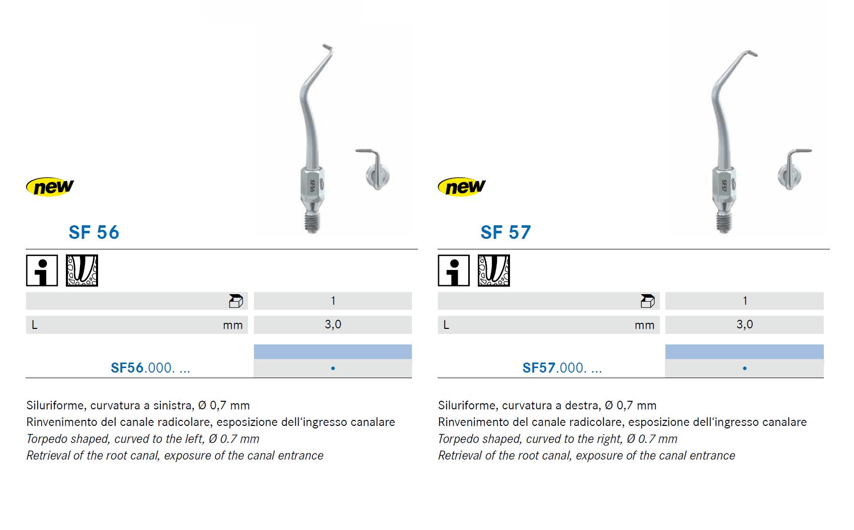 Punte soniche per endodonzia SF56 SF57